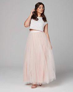 Tulle Skirt Bridesmaid, Tulle Dress, Dress Skirt, Tulle Skirts, Maxi Dresses, Bridesmaids, Plus Size Fashion Dresses, Trendy Plus Size Fashion, Plus Size Dresses