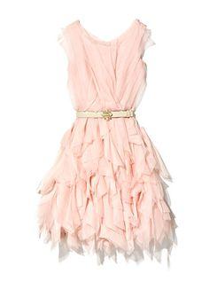 Oscar de la Renta pink black tie dress, oscardelarenta.com
