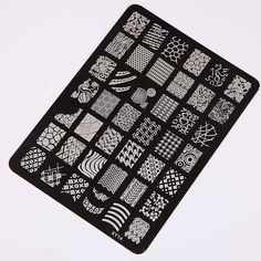 Nail Art Stamp Plate Collection Stamping Image Templates Manicure Nail Designs DIY-140*105 mm / 5.7 x 4.1 inches    Specifications:  * Type:  Template Stamping - all in black/or/all in silver -Random plate color  * Quantity: 1Pcs  * Material: Stainless steel  * Size approx. : 14.5*10.5cm / 5.7 x 4.1 inches  * Model Number: XY-14/XY-16/XY-18 - etched on the plate showing on photo lower right corner    * Notice:please choose model number(s) when you order    Package: 1 plate    How to use…