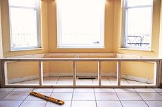 how to build a window seat in a weekend, painted furniture, Framing out a window seat