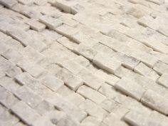 Split face stone tile back splash
