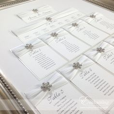 """The Elsa Collection - Framed Table Plan Seating Chart 