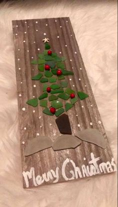 Driftwood Crafts, Seashell Crafts, Beach Crafts, Sea Glass Crafts, Sea Glass Art, Fused Glass, Christmas Card Crafts, Christmas Art, Glass Art Pictures