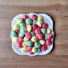 Other than macaroons, Meringue kisses are the most beautiful looking sweets in the world – well in my world that is.. The pastel colours with combinations of rose pink, lemon and aqua makes …
