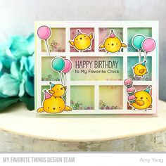 Handcrafted Cards Made With Love: MFT APRIL BIRTHDAY PROJECT - SHAKER CARD