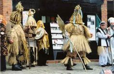 """Ch 9.12 """"Well, mum's the word, then, eh? """" said Bingley. Defn: Mummers are mimers, acting without words. 'Mum's the word' is a promise of silence. This pic - Aughakillymaude mummers, County Fermannagh, Ireland"""