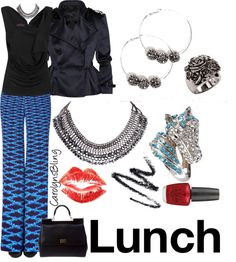 """Lunch"" by carolynsbling on Polyvore"