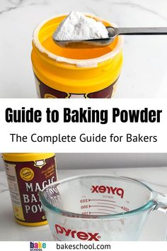 Learn everything you need to know about baking powder. What does it do to cakes and cookies? What is the difference between baking powder and baking soda? Is there a difference between double-acting and single-acting baking powder? Make Baking Powder, Homemade Baking Powder, Baking Powder Recipe, Baking Hacks, Baking Tips, Baking Recipes, Cake Recipes, What Is Baking