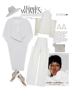 """Wonder Women"" by naturalbornstyler ❤ liked on Polyvore featuring Naomi Campbell, Marni, Maticevski, Solace, FABIANA FILIPPI, Roksanda, Roland Mouret, philosophy and Annie Costello Brown"