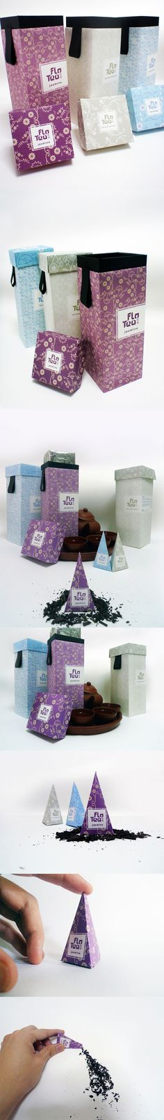 Unique Packaging Design, Flo Tea #packaging #design (http://www.pinterest.com/aldenchong/)