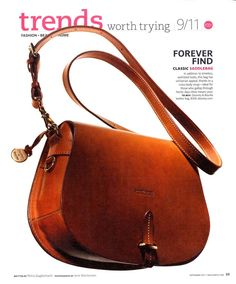 Real Simple (September 2011) - Featuring the Alto Saddle Bag