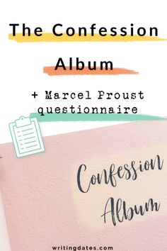 Want to get to know your characters a little better. Try and fill out a confession album for each of them or go through the Marcel Proust questionnaire with the free printable from this blog post. Perhaps this will make it a little easier to start to write a novel.