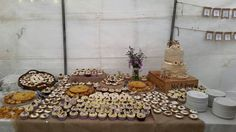 Our wedding cake and mini desserts x