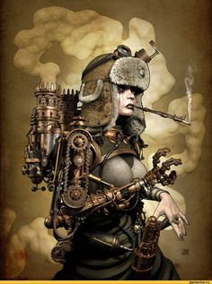 Steampunk its more than an aesthetic style, it's the longing for the past that never was. In Steampunk Girls we display professional pictures, and illustrations of Steampunk, Dieselpunk and other anachronistic 'punks. Some cosplay too! Couture Steampunk, Steampunk Artwork, Mode Steampunk, Steampunk Fashion, Steampunk Wallpaper, Steampunk Clothing, Steampunk Female, Steampunk Cosplay, Diesel Punk