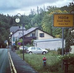 On my ordertour - Descent to Hell - For Magic Marine and Triggernaut we go to hell and back if necessary #drivenbytheelements #magicmarine #Strange names for little villages # norbertpeterthoughtsunlimited