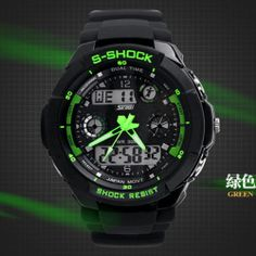 Skmei S-Shock Men Sports Military Watches Brand boys Fashion Casual Wristwatch #Skmei #Sport