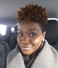 """1,854 Likes, 36 Comments - Elle & Neecie (@naturalhairdaily) on Instagram: """"Yes to @akadivanik's tapered cut! If you're looking for short hair inspiration, check her out!…"""""""