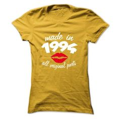 Ladies Made in 1994 T Shirts, Hoodies. Get it now ==► https://www.sunfrog.com/Birth-Years/Ladies-Made-in-1994-3980842-Ladies.html?57074 $22