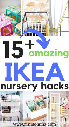 15 Amazing IKEA Nursery Hacks For Easy DIY Projects! These nursery ideas are perfect for new parents looking to make a baby's nursery on a budget! Whether it's a gender neutral nursery or a complete girl nursery or boy nursery, these IKEA Nursery h Small Baby Nursery, Small Space Nursery, Baby Boy Nurseries, Small Nursery Layout, Modern Nurseries, Small Nurseries, Bedroom Small, Master Bedroom, Ikea Nursery