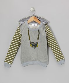 Take a look at this PRSPR Green & Gray Camera Convertible Hoodie - Toddler & Boys on zulily today!