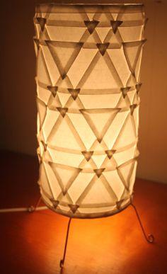 Handmade Origami Luminary Lamp - Triangle Trellis Tessellation