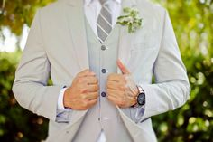 Love this for a summer or spring wedding- mens wedding attire.