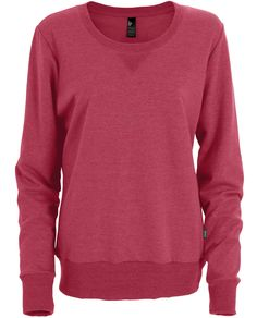 ethica crew-neck sweater | French Terry | Heather red | L1G Made in Canada