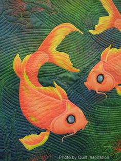 close up, Koi Pair by Georgia Heller. 2014 AZQG, photo by Quilt Inspiration