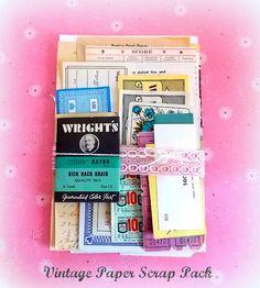 Charming Vintage Paper DIY  Pack by vintagescrapshop on Etsy