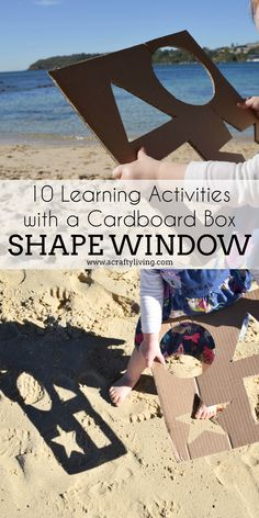 10 Learning Activities with a Cardboard Box - from Shape Windows to Sorting Boxes & Puzzles - 10 simple DIY's for Babies, Toddlers & Preschoolers!