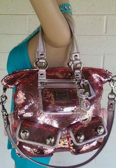 Pink+COACH+no+rsv+rare+POPPY+SEQUIN+SPOTLIGHT+PURSE+HANDBAG+13821+satchel+#Coach+#ShoulderBag