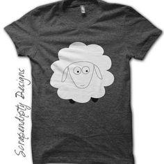 Sheep Iron on Shirt PDF - Farm Iron on Transfer / Kids Boys Clothing Tops / Toddler Sheep Shirt / Girls Farm Tshirt / Sheep Printable IT61