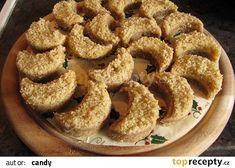 Rohlíčky touha recept - TopRecepty.cz Krispie Treats, Rice Krispies, Onion Rings, Christmas Cookies, Cereal, Breakfast, Ethnic Recipes, Food, Xmas Cookies