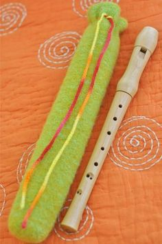 Use fleece and different colors or patterns for each recorder?