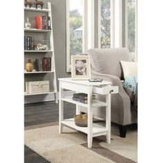 Convenience Concepts American Heritage 3-Tier End Table with Drawer, Multiple Colors - Walmart.com