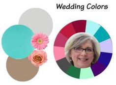 Marcia with Winter coloring and working with a wedding color scheme with Online Color Analysis  #Winter coloring #wedding color #online color analysis