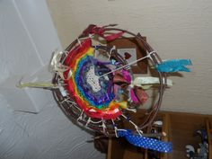 Rainbow weaving mobile