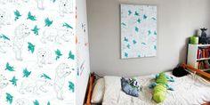 © Stephanie Desbenoit - illustratrice Affiche 70 x 100 cm Ours blanc Collection Les grosses bêtes ou la délicatesse - chez Tristan