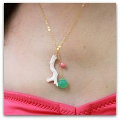 ハワイ ネックレス ホワイトピンクサンゴ