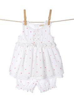 Baby Girls White Swing Top and Bloomer Set
