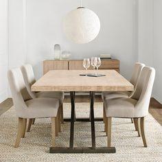 Atelier - Hampton chic - Table de salle à manger à dessus en bois et pieds en métal/Tables de salle à manger/Magasinez par produit/ATELIER Bouclair|Bouclair.com