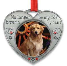 IN LOVING MEMORY OF A DOG. Add this beautiful pet remembrance photo ornament to display a loving picture of your furbaby. Pet Remembrance Christmas ornament has