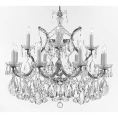 Gallery Maria Theresa Crystal Chandelier w/ Large, Luxe, Diamond Cut Crystals