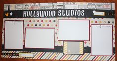 12 x 12 Disney Hollywood Studios Premade Scrapbook Layout Double Paged   eBay