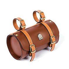 55036485a05 Amazon.com : Comfortable Soft Vintage Bicycle Saddle Tail Handlebar Tools  Bag, Cylindrical, Handmade : Sports & Outdoors