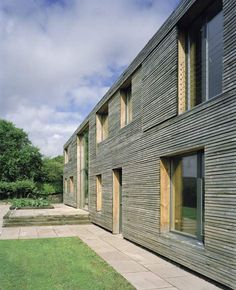 Ty Pren - Environmental House, Wales by Feilden Fowles Architects Timber Architecture, Residential Architecture, Architecture Details, Larch Cladding, Rainscreen Cladding, Long House, Villa, Wooden House, Building Design