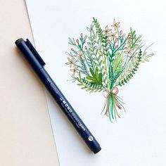 Watercolor illustration with @tombowusa Mono Drawing Pen by Kiley in Kentucky