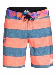 Mans Hawaiian Coral Reef Hawaii Adjustable Waistline Skate Trunks Casual Water Sports Shorts