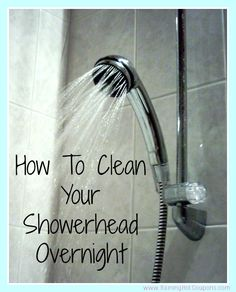 How To Clean Your Showerhead Overnight
