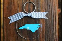 State Love Key Chain | Teal Florida